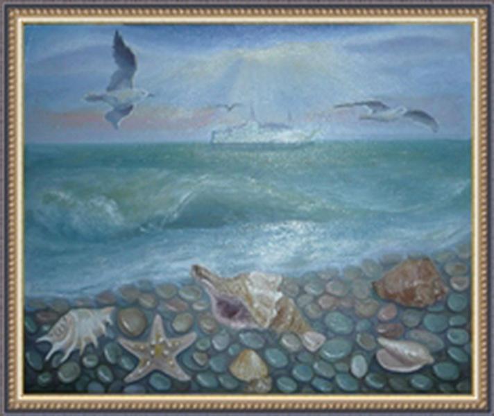 Нарисовать море мастер класс